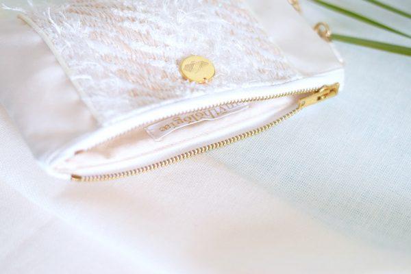 Pochette longue Hina tissage artisanal français
