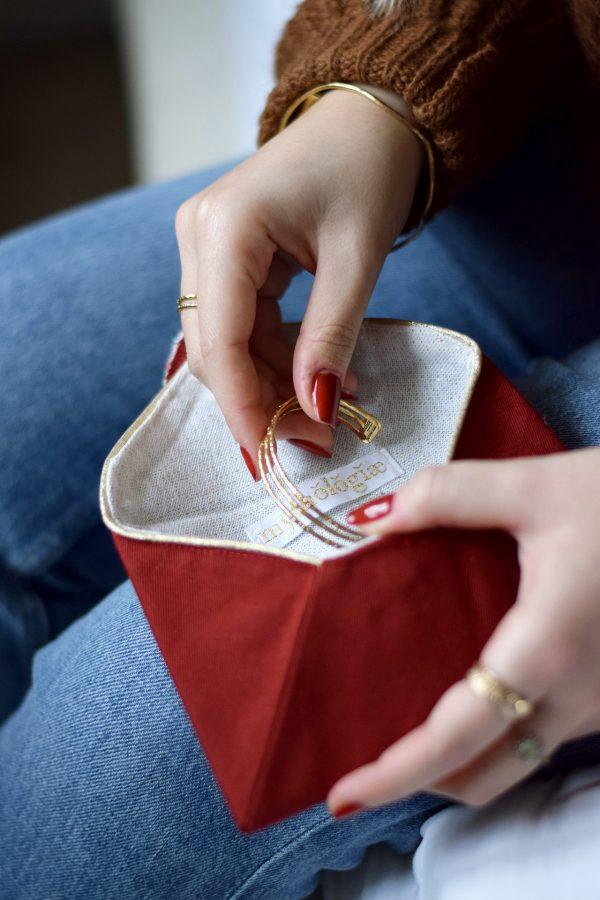 Pochette enveloppe cœur Rouge baiser 4